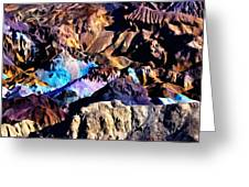 The Artists Palette Death Valley Greeting Card
