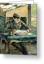 The Artists Son Greeting Card by Camille Pissarro