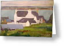 The Artists Studio Iona Greeting Card by Francis Campbell Boileau Cadell