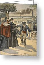 The Assassination Of The Empress Greeting Card by French School