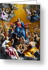 The Assumption Of The Virgin Mary Greeting Card by Guido Reni