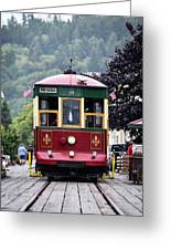 The Astoria Trolley Running Greeting Card