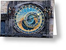 The Astronomical Clock In Prague Greeting Card