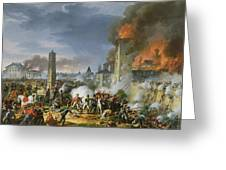 The Attack And Taking Of Ratisbon, 23rd April 1809, 1810 Oil On Canvas Greeting Card