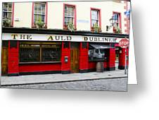 The Auld Dubliner  Greeting Card