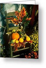 The Autumn Chair Greeting Card