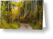 The Autumn Road Greeting Card