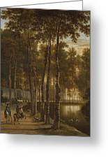 The Avenue Of Birches Greeting Card