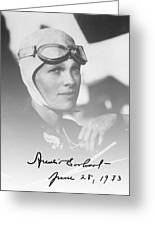 The Aviatrix Greeting Card