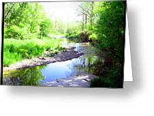 The Babbling Stream Greeting Card