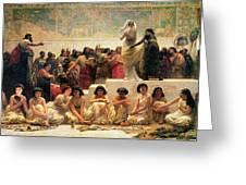 The Babylonian Marriage Market, 1875 Greeting Card by Edwin Longsden Long