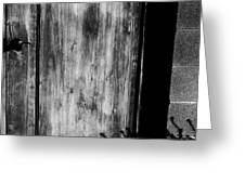 The Back Door Bw Greeting Card