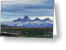 The Back Side Of The Tetons Greeting Card