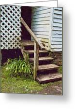 The Back Steps Greeting Card