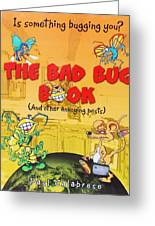 The Bad Bug Book Cover Greeting Card by Paul Calabrese