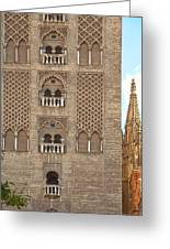 The Balconies Of Seville Cathedral Belfry Greeting Card by Viacheslav Savitskiy