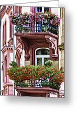 The Balcony Flowers Greeting Card