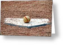 The Ball Of Field Of Dreams Greeting Card by Susanne Van Hulst
