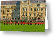 The Band Played On In Front Of Parliament Building In Ottawa-on Greeting Card