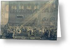 The Baptism Of The King Of Rome 1811-32 At Notre-dame, 10th June 1811, After 1811 Engraving Greeting Card