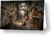 The Barber's Chair -the Demon Barber Greeting Card
