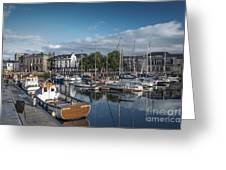 The Barbican Plymouth Devon Greeting Card by Donald Davis