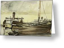 The Barge Greeting Card