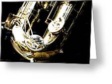 The Baritone Saxophone  Greeting Card