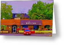 The Barley Mow Pub Urban Eatery Old Ottawa The Glebe British Irish Restaurant Ottawa Scenes Cspandau Greeting Card