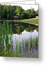The Barn Across The Pond Greeting Card