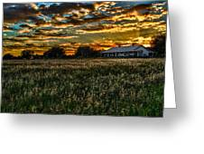 The Barn At Sunset Greeting Card