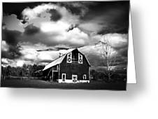 The Barn Before The Storm Greeting Card