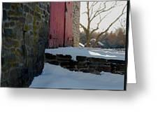 The Barn Doors Greeting Card