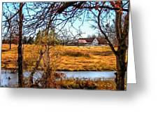 The Barn In Autumn Greeting Card