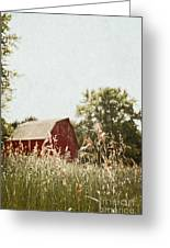The Barn In The Distance Greeting Card