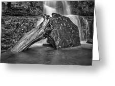The Base Of The Falls Greeting Card