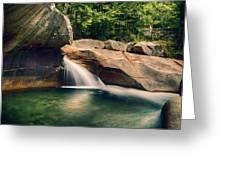 The Basin At Franconia Notch State Park Nh Greeting Card
