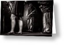 The Bassist Greeting Card