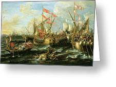The Battle Of Actium 2 September 31 Bc Greeting Card