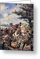 The Battle Of Bouvines, 1214 Greeting Card