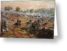 The Battle Of Gettysburg, July 1st-3rd Greeting Card