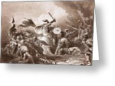 The Battle Of Hastings, Engraved Greeting Card