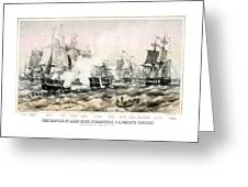 The Battle Of Lake Erie - 1878 Greeting Card