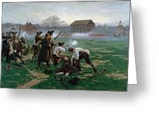 The Battle Of Lexington, 19th April 1775 Greeting Card