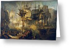 The Battle Of Trafalgar Greeting Card