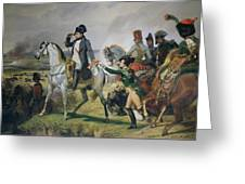 The Battle Of Wagram, 6th July 1809, 1836 Oil On Canvas Greeting Card