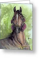 The Bay Arabian Horse 16 Greeting Card