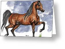 The Bay Arabian Horse 17 Greeting Card