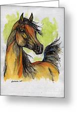 The Bay Arabian Horse 5 Greeting Card