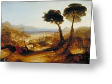 The Bay Of Baiae With Apollo And The Sibyl Greeting Card